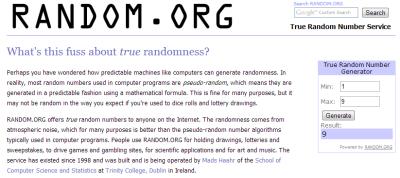 Random.org June 2013